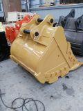 猫M318f 1.2cbmの車輪の掘削機の石のバケツ
