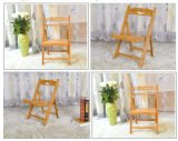 Chaises pliante en bois en bambou Chaises de salle à manger modernes Chaises d'ordinateur (M-X2026)