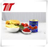 두 배를 가진 통조림으로 만들어진 토마토 페이스트는 28-30%에 집중했다