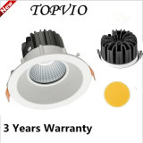 Regulable aluminio COB Downlight LED lámpara de techo
