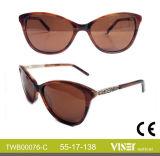 De met de hand gemaakte Zonnebril van de Acetaat van de Zonnebril met de Glazen Van uitstekende kwaliteit (76-c)