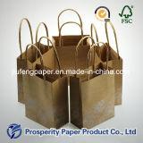 Миниая напечатанная сумка бумаги Kraft