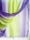 100% Cashmere Enya POM Lace Trim Shawl Wrap