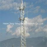 Гальванизированная собственная личность углового угла стальная - поддерживая башня телекоммуникаций