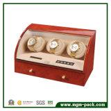 Almacenamiento de rotación automática de madera Mostrar watch winder