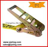 """cinta 4 """" amarelo da catraca da carga de 4 """" extensões Chain de X 50 '"""