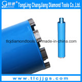 Diamant-Kern-Bohrung und Cuttig verstärkter Beton