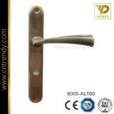 アルミニウムレバー(8005-AL160)が付いている鉄の版のドアロックのハンドル