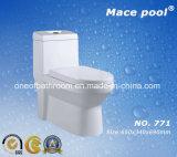 Toletta di un pezzo fredda di Siphonic per le attrezzature della stanza da bagno (771)