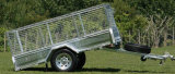 8X5 Ramped Trailer with Cage