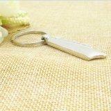 Trousseau de clés de logo personnalisé par métal en gros de blanc de cadeau de promotion