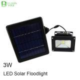 luz clara ao ar livre solar da iluminação de inundação do diodo emissor de luz 3W
