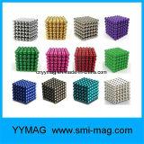Bereich-Magnet Rubik Würfel der Qualitäts-N35 bunter des Durchmesser-5mm