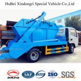 тележка отброса нагрузки мусорного контейнера Wastebin скипа рукоятки качания 1.5ton Dongfeng автоматическая
