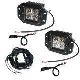オフロード自動車およびオートバイのパート3インチ12W 6000k 1440lmの点の洪水LED作業ライト