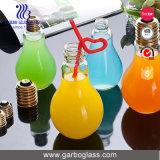 Frasco de vidro dado forma bulbo para o suco ou os doces