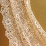 Мода дизайн Gold/белым цветочным рисунком кружевной вышивкой