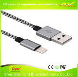 Gevlecht Aluminium 8pin de Kabel van de Lader voor iPhone