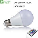 3W 5W 10W E27 새로운 RGB LED 전구