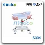 マットレスが付いている中国の製造者の病院の赤ん坊のまぐさ桶か折畳み式ベッド(ステンレス鋼)