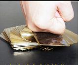 Transparente Plástico / PVC Poker Jogando cartas com borda de ouro