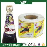 Étiquette adhésive estampée faite sur commande de collant pour la bouteille d'eau ou la boisson minérale