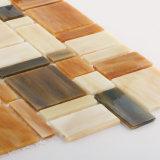 Precio de Fábrica Foshan Azulejo Mosaico Amarillo Naranja Joyas Vidrio