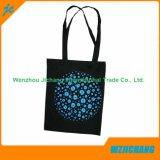 Promotion réutilisables de 100% coton naturel tissu textile Sacs de transport