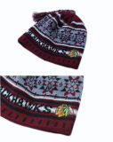Red Hat Beanie POM POM Red Hat Жаккард Red Hat трикотажные Red Hat