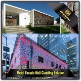 Painel decorativo decorativo de revestimento de parede de fachada de alumínio multicolor Keenhai