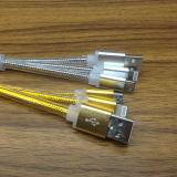USB 마이크로 Cable+ 8 Pin 나일론 땋는 USB 비용을 부과 코드