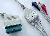 Cable del broche de presión 3 ECG de Nihon Kohden 12pin