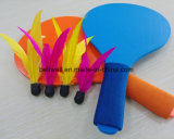 Подгонянная ракетка Bach цвета содержит летучую мышь пляжа пташек 2paddles And4 с Shuttlecock