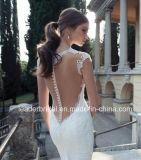 Отвесная крышка платьев венчания шнурка Sleeves мантии A01 Berta Bridal