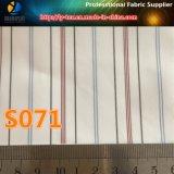 Línea roja de la manga de la guarnición de poliéster hilado teñido de tela para prendas de vestir (S71.74)