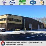 Entrepôt personnalisé de structure métallique avec le revêtement de feuillard