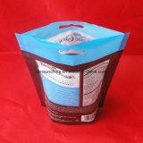 Diseño personalizado de calidad alimentaria permanente Zippe propia bolsa de papel marrón