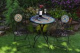Bearbeitetes Eisen-eindeutiges Canterbury-Mosaik-Tisch-Set