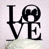 까만 아크릴 결혼 케이크 상품 사랑 신부 신랑 케이크 상품