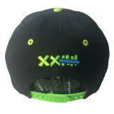 Proyecto de Ley de la tapa plana personalizado de impresión negro bordado de la moda Snapback Sport Hat