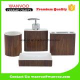 Granit décalcomanie 4 PCS Accessoire de bain en céramique pour l'hôtel et la maison