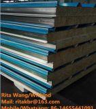 Tarjeta de Rockwool/el panel de emparedado incombustibles de las lanas de roca para la pared/la azotea