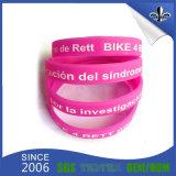Kundenspezifische preiswerte gedruckte Firmenzeichen-Silikon-GummiWristbands für Förderung