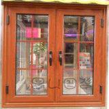 Hölzernes Aluminiumfenster-Vorhang-Innere-Doppelt-Panel-Glasfenster