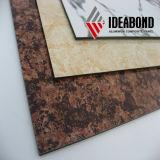 El panel compuesto de aluminio de la mirada de la piedra de la capa de PE/PVDF para el revestimiento de la pared interior/exterior (AE-501)