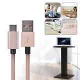 5V 4.5A umsponnenes Superladung USB-Nylonkabel für Typen-c