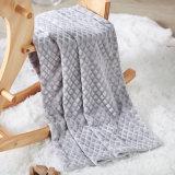 2 Schicht prägte weiche Plüsch-Flanell-Vlies-Deckel-Zudecke für Knie oder Bett