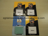 Microfiber Putztuch-einzelne Verpackung mit Papierkarte in der Blasen-Karte