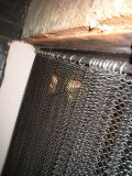 Aço inoxidável rústico moderno telas com Lareira