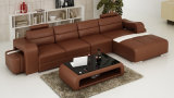 Sofà moderno del cuoio di figura della mobilia U per il salone domestico (HC1072)